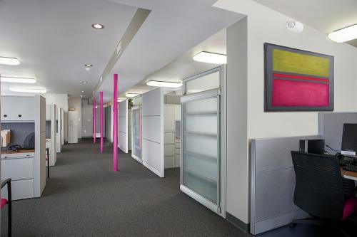 pink jeep hallway art